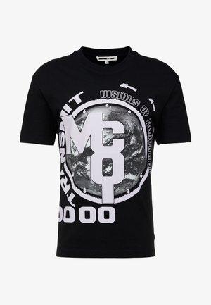 DROPPED SHOULDER TEE - T-Shirt print - darkest black