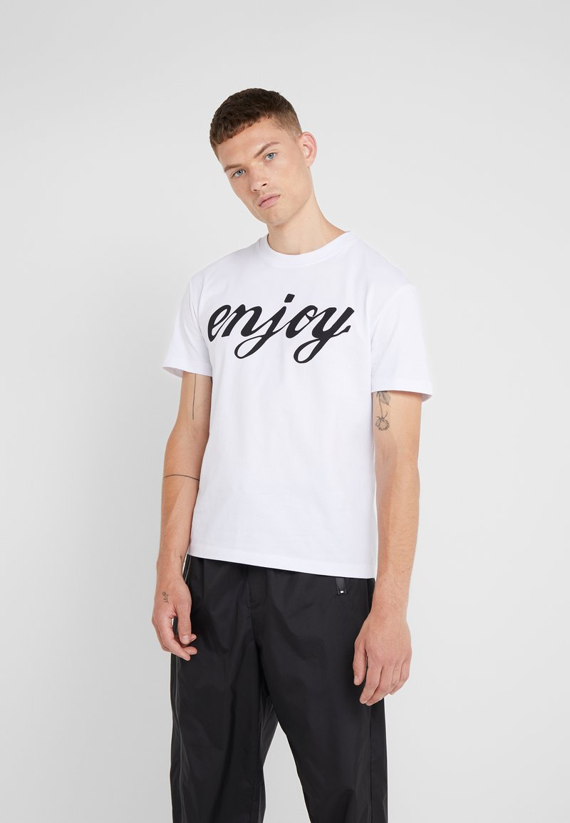 McQ Alexander McQueen - DROPPED SHOULDER TEE - Printtipaita - white