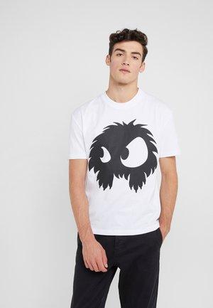 DROPPED SHOULDER TEE - T-shirt print - optic white