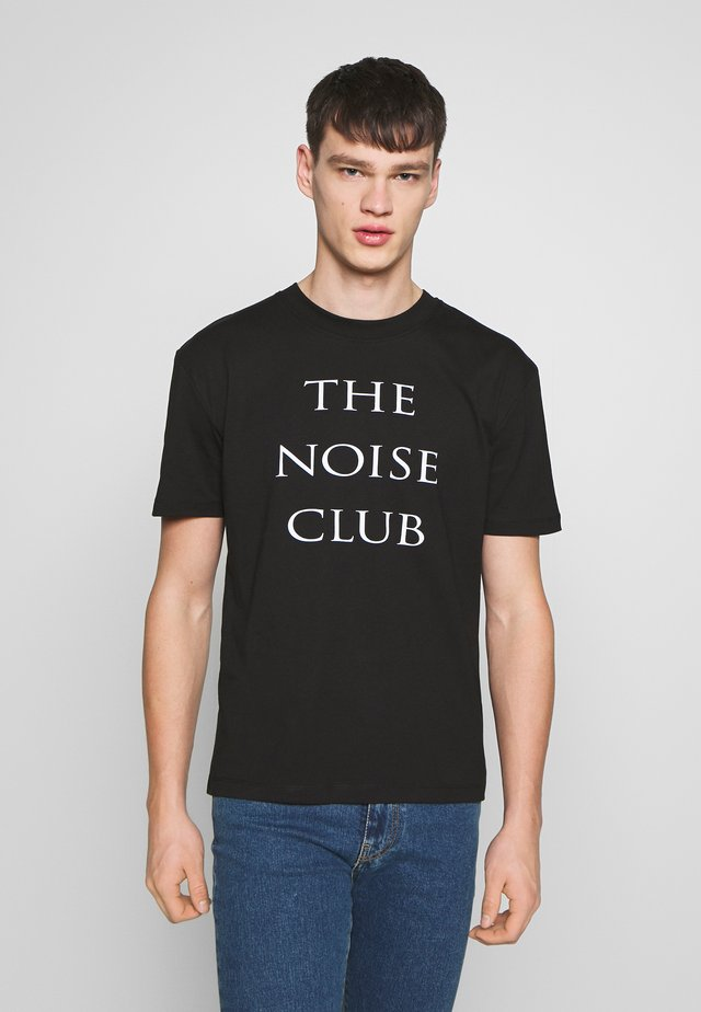 THE NOISE CLUB DROPPED - T-shirt con stampa - black