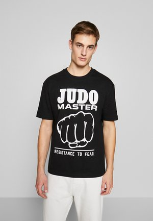JUDO MASTER DROPPED SHOULDER  - T-shirt print - darkest black
