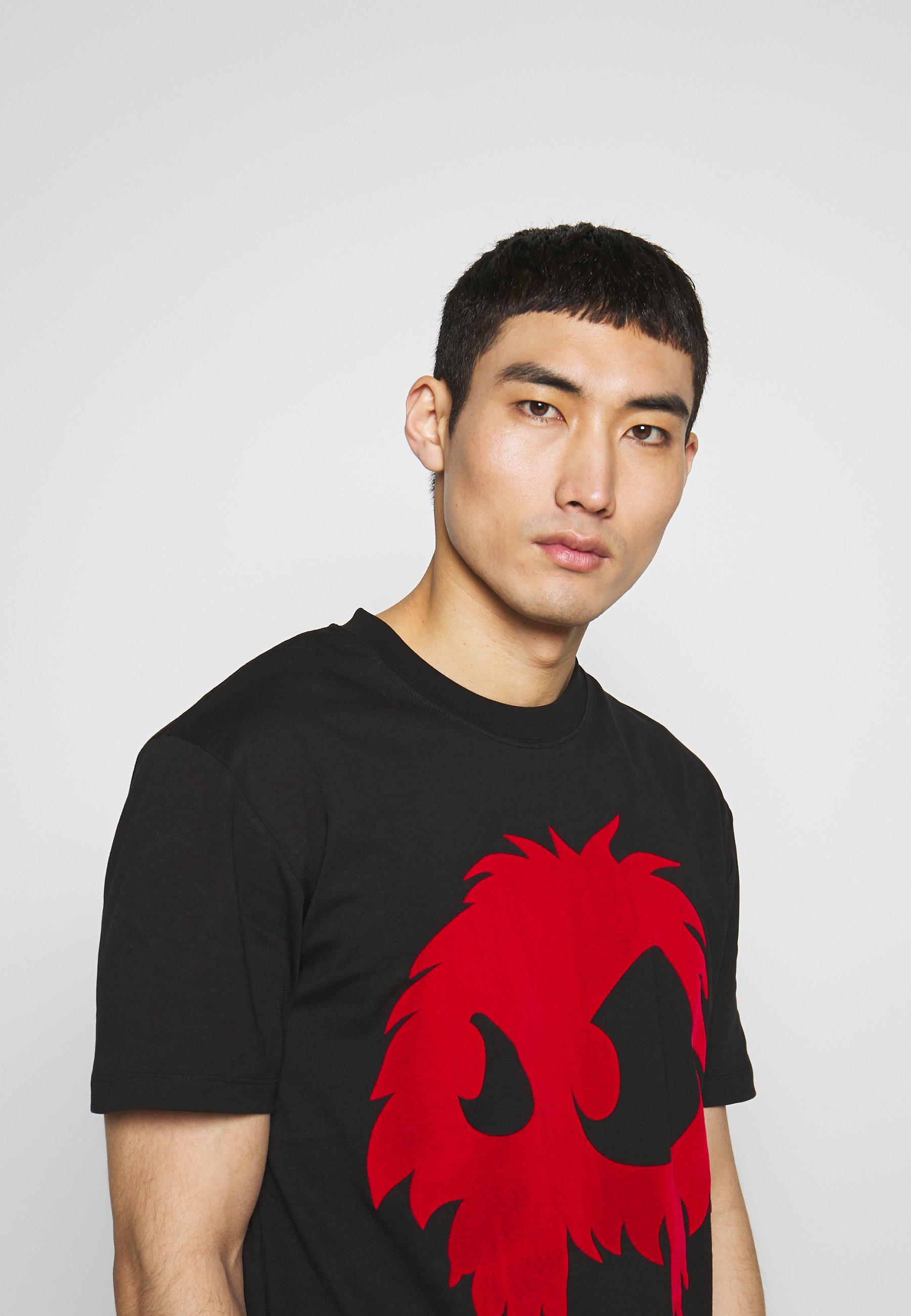 MONSTER DROPPED SHOULDER T shirt print darkest blackrouge