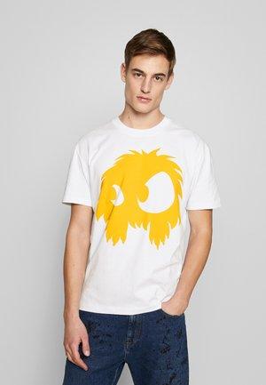DROPPED SHOULDER - T-shirts print - white/yellow