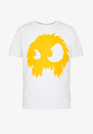 DROPPED SHOULDER - T-shirts print - white/yellow