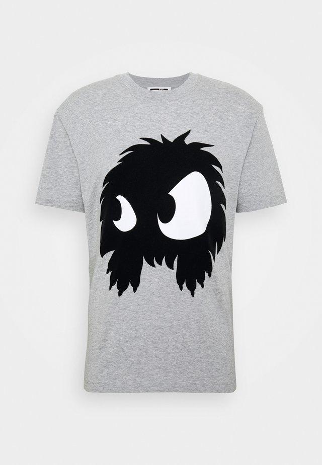 DROPPED SHOULDER - T-shirt con stampa - mercury melange