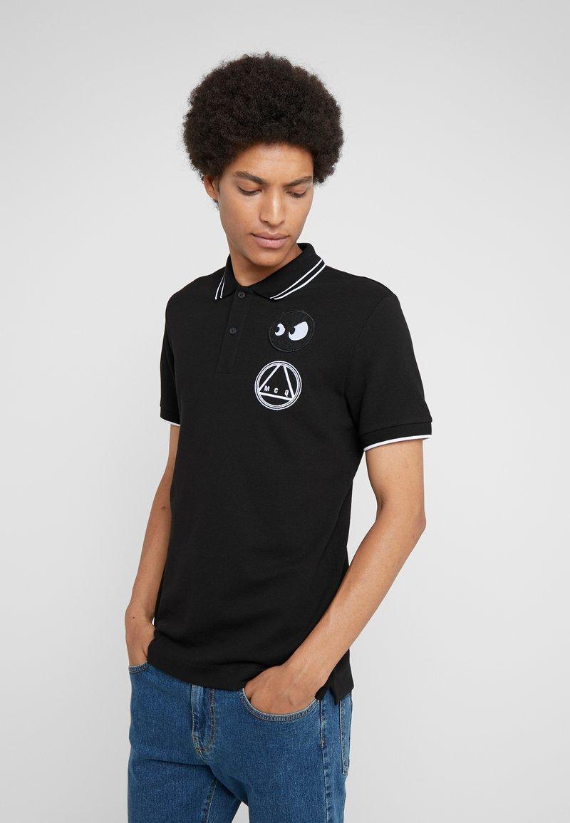 McQ Alexander McQueen - Poloshirt - darkest black/white