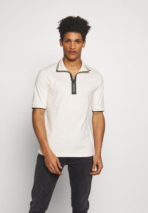 DROPPED SHOULDER POLO - Polo - oyster