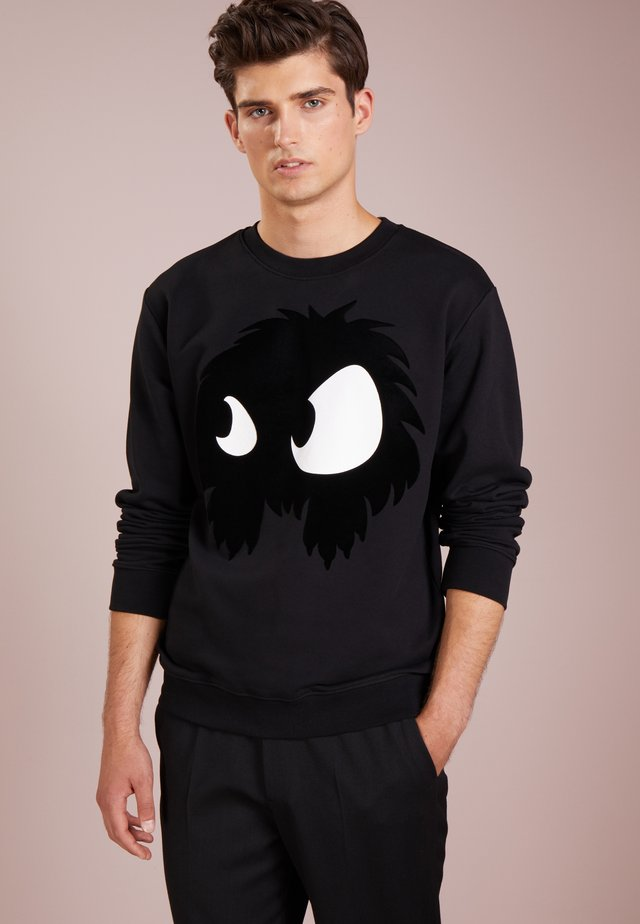 BIG CREW NECK - Bluza - darkest black