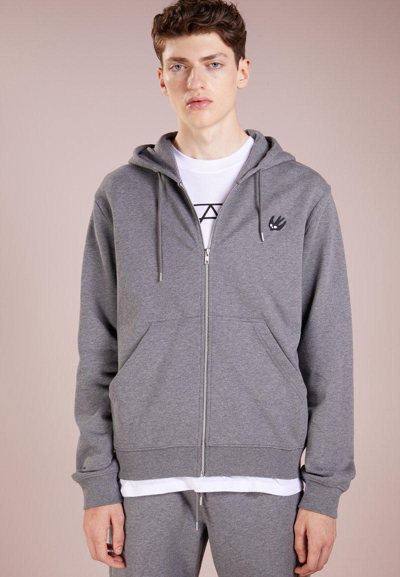 McQ Alexander McQueen - CLEAN ZIP HOODIE - Zip-up hoodie - grey melange