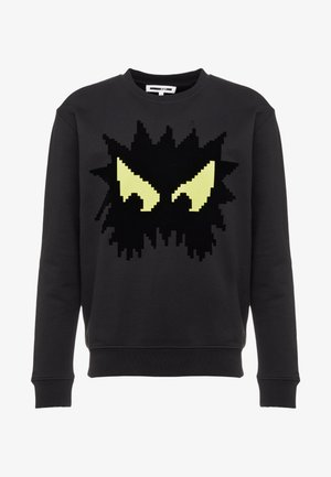 BIG CREW NECK - Sweatshirt - black/yellow