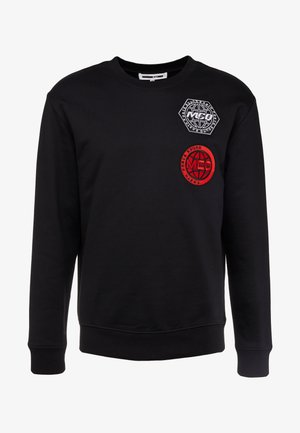 BIG CREW NECK - Mikina - darkest black
