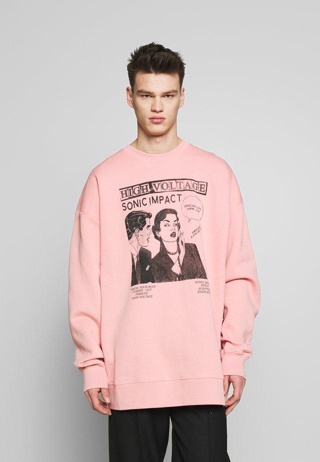 SUPER BIG SWEATER - Sweatshirt - cameo pink