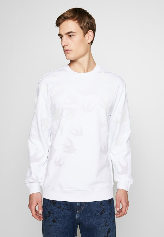 TONAL SWALLOW PULLOVER - Sweatshirt - optic white