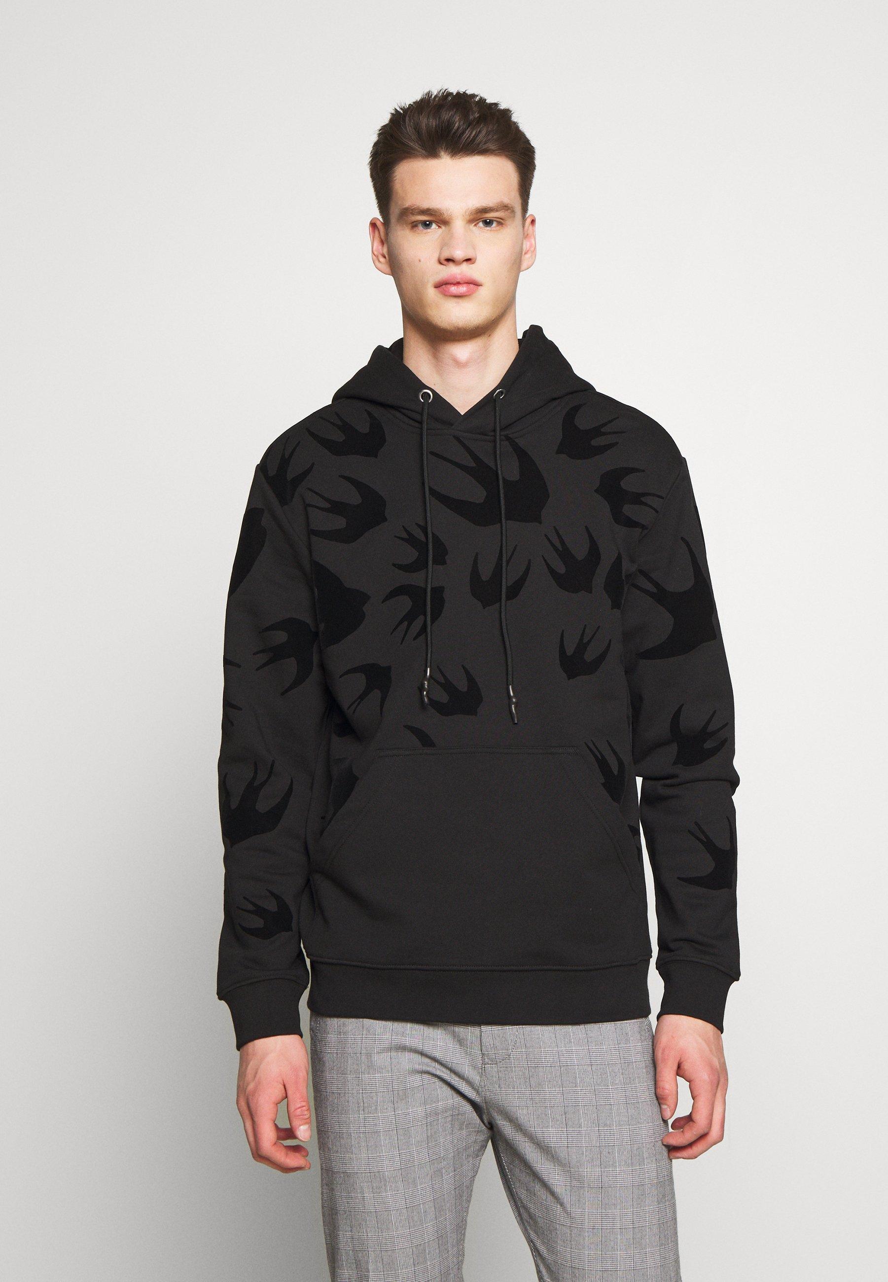 McQ Alexander McQueen HOODIE - Bluza z kapturem - darkest black
