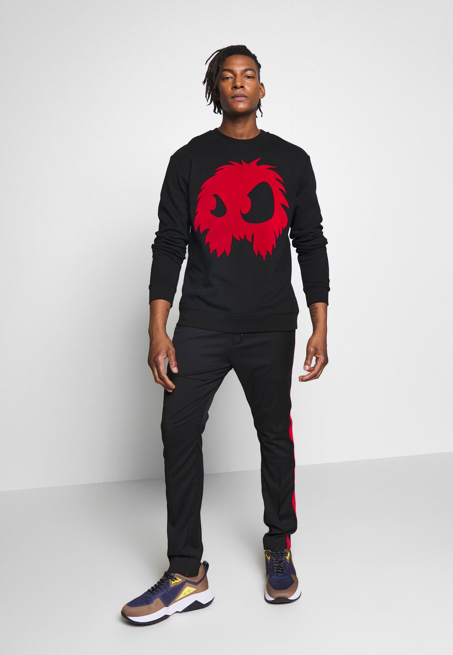 McQ Alexander McQueen MONSTER - Felpa - darkest black/rouge