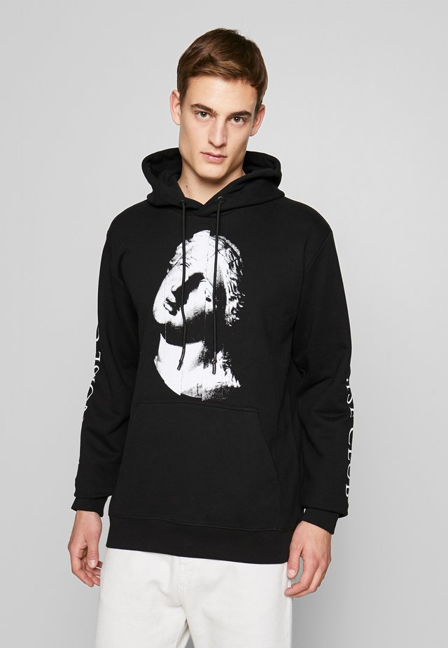 THE NOISE CLUB PULLOVER HOODIE - Huppari - darkest black