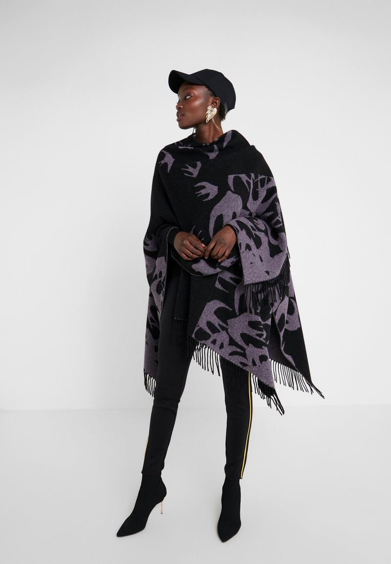 McQ Alexander McQueen - CUT UP SWALLOW - Poncho - black/lilac