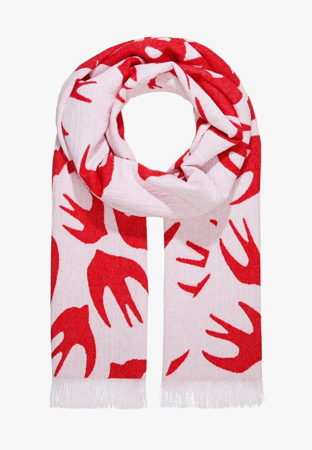 SWALLOW CUT UP SCARF - Šála - white/red