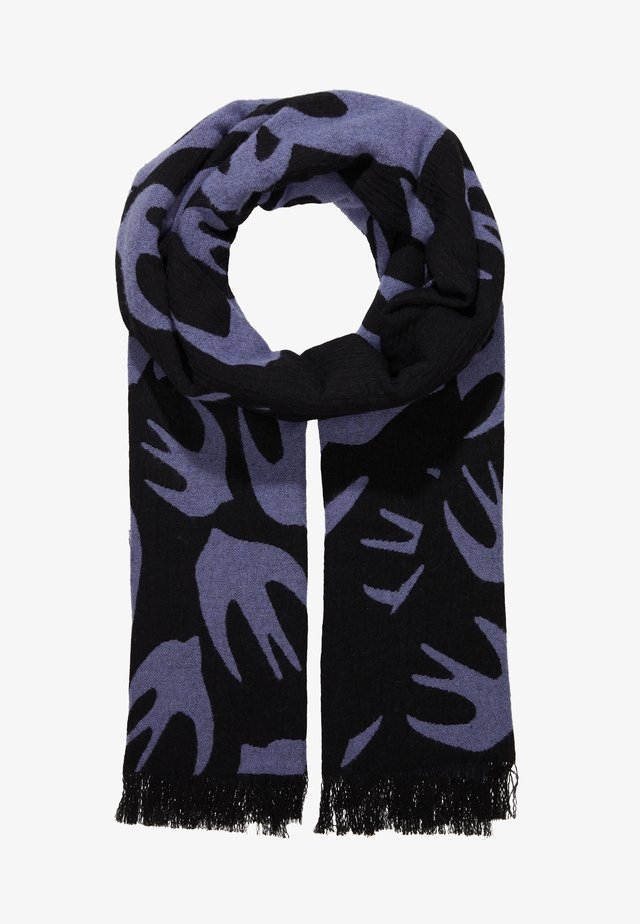 SWALLOW CUT UP SCARF - Schal - black/lilac