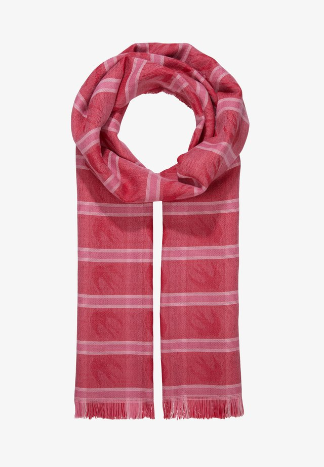 SWALLOW CHECK SCARF - Schal - red
