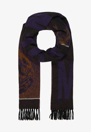 FRENTIC SCARF - Szal - black/purple/orange