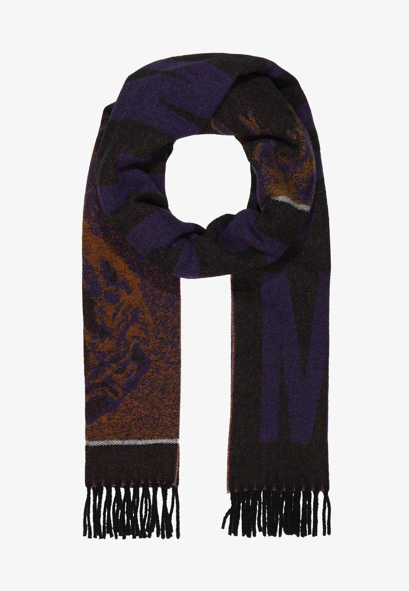 McQ Alexander McQueen - FRENTIC SCARF - Écharpe - black/purple/orange