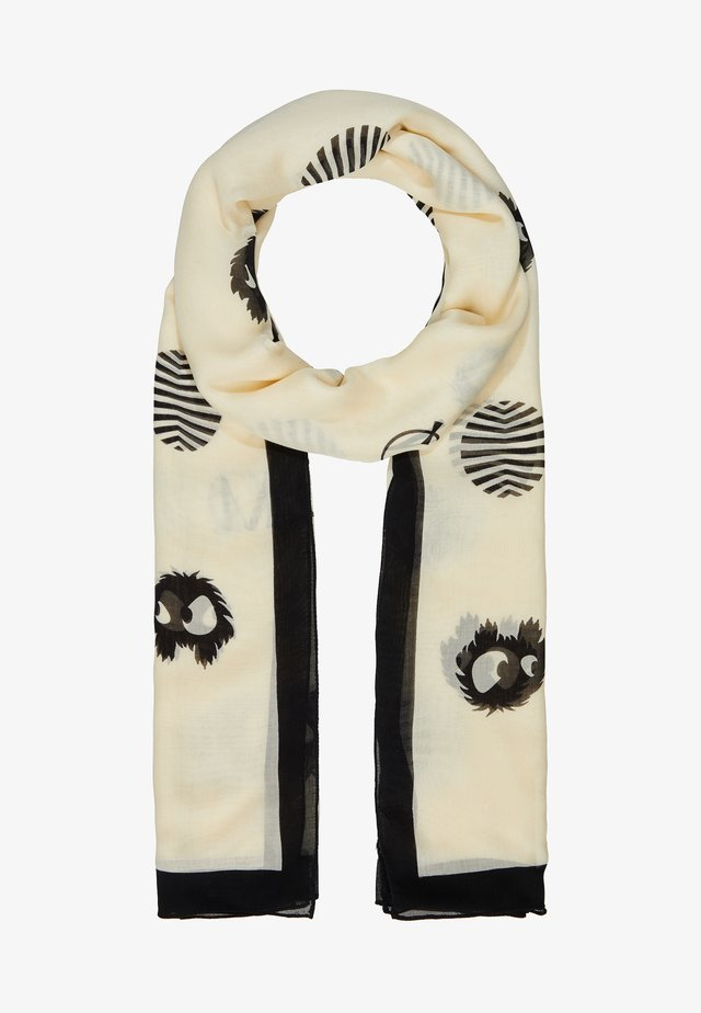 MONSTER SUN SCARF - Halsduk - oyster/black
