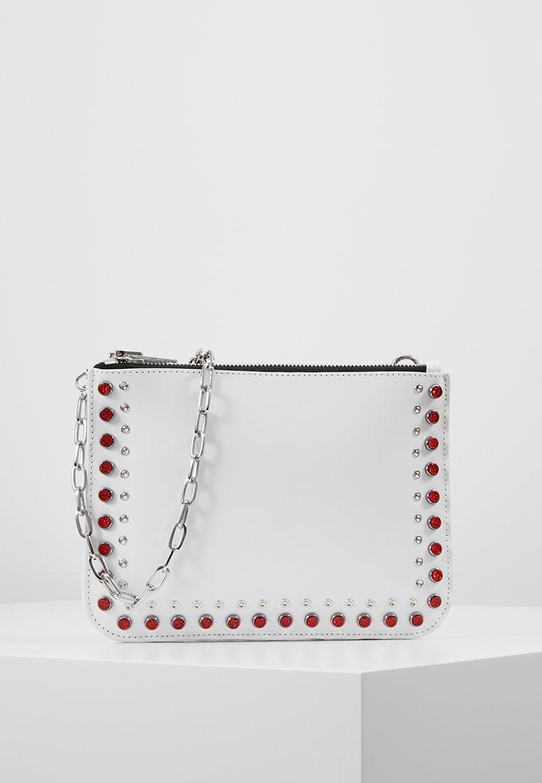 McQ Alexander McQueen - DOUBLE POUCH CROSS - Taška spříčným popruhem - white