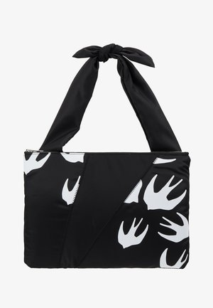 KNOTTED TABLET POUCH - Clutch - black/white