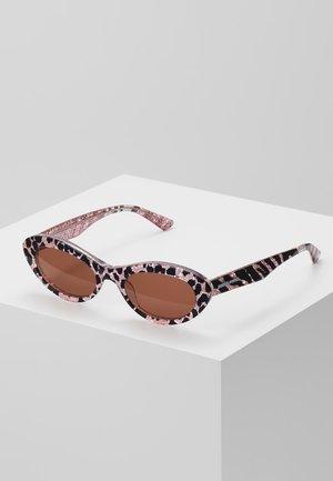 Sonnenbrille - pink/brown