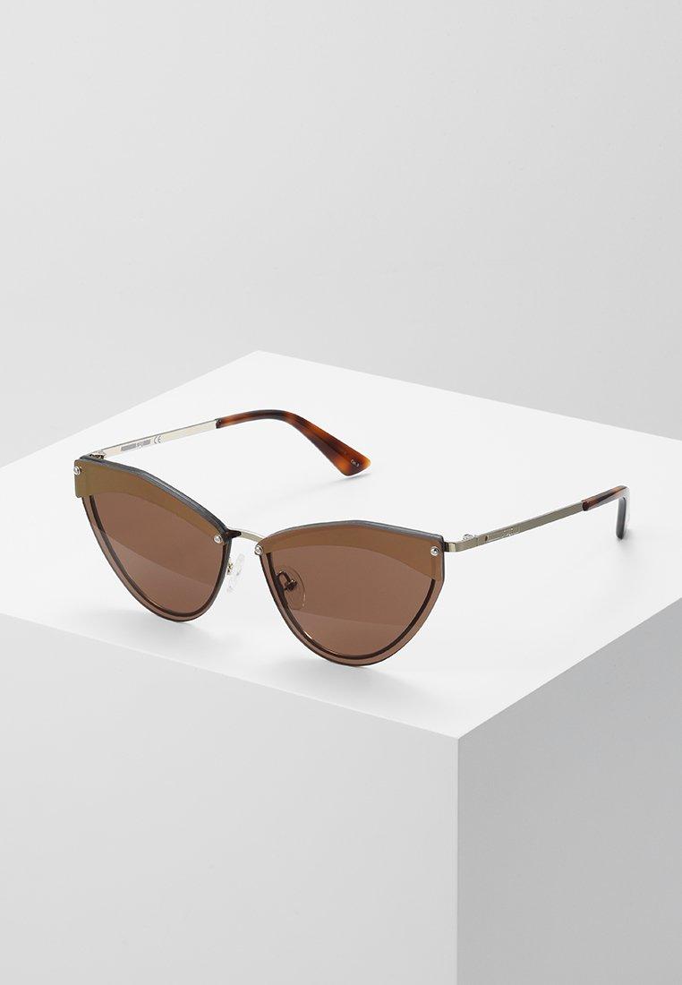 McQ Alexander McQueen - Occhiali da sole - gold-coloured/brown