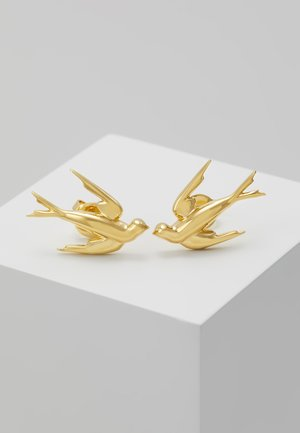 SWALLOW EARRING - Pendientes - gold-coloured
