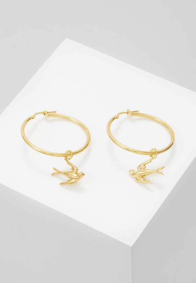 SWALLOW HOOP EARRING - Ohrringe - gold-coloured