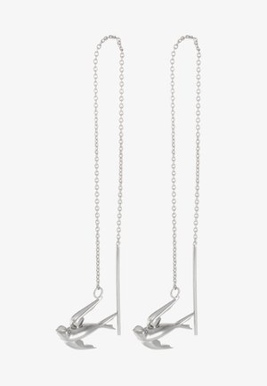SWALLOW EARRING - Earrings - silver-coloured