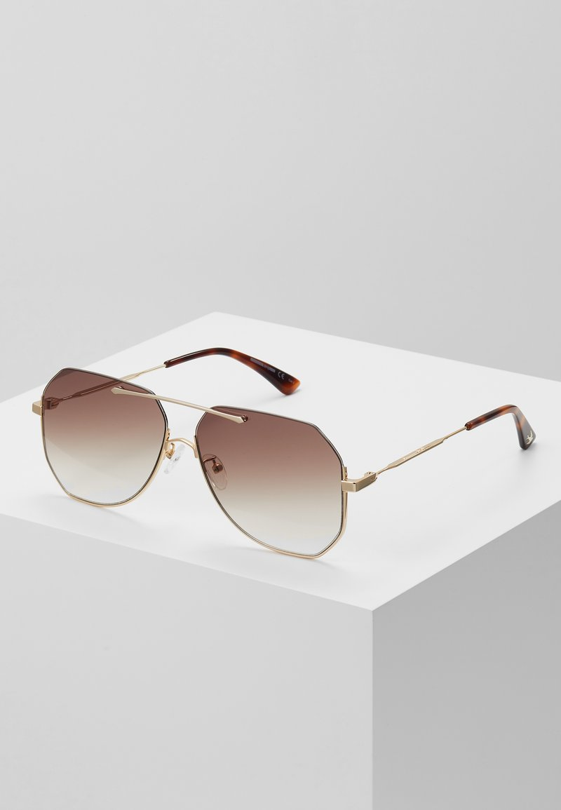 McQ Alexander McQueen - Lunettes de soleil - gold-coloured/brown
