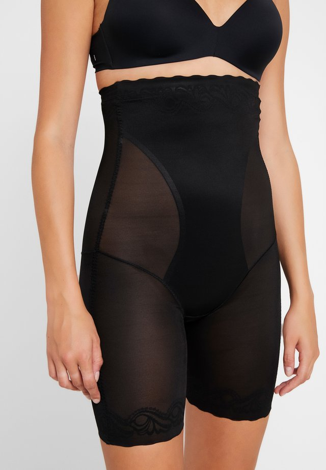 DSIRED SCALLOP SHEER HIGH BERMUDA - Shapewear - black