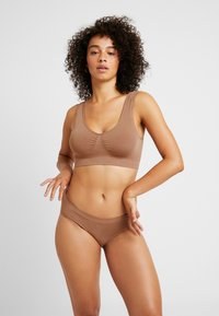 MAGIC Bodyfashion - TRENDY HIPSTER 2 PACK - Slip - mocha - 0