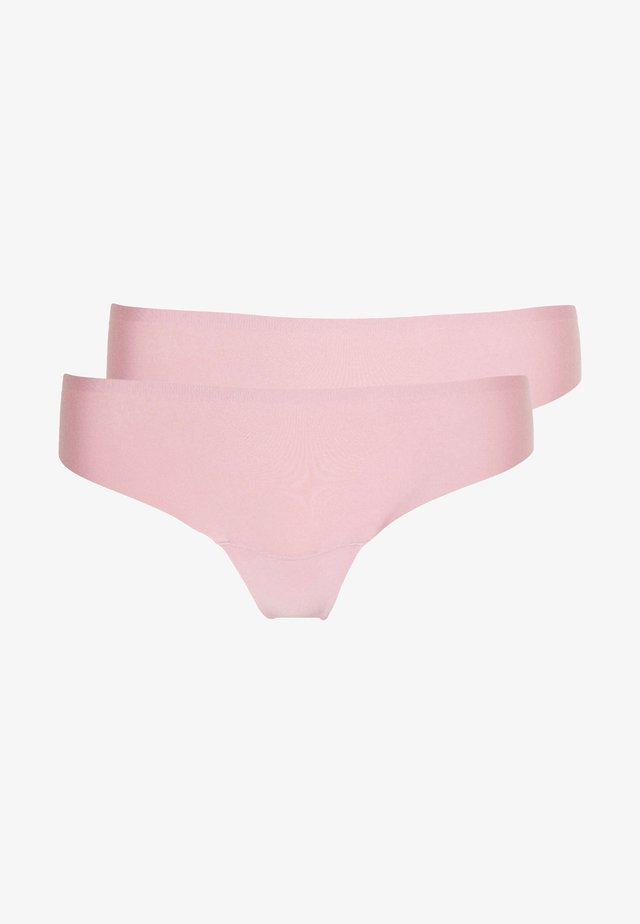 DREAM INVISIBLES THONG 2 PACK - Tanga - blush pink