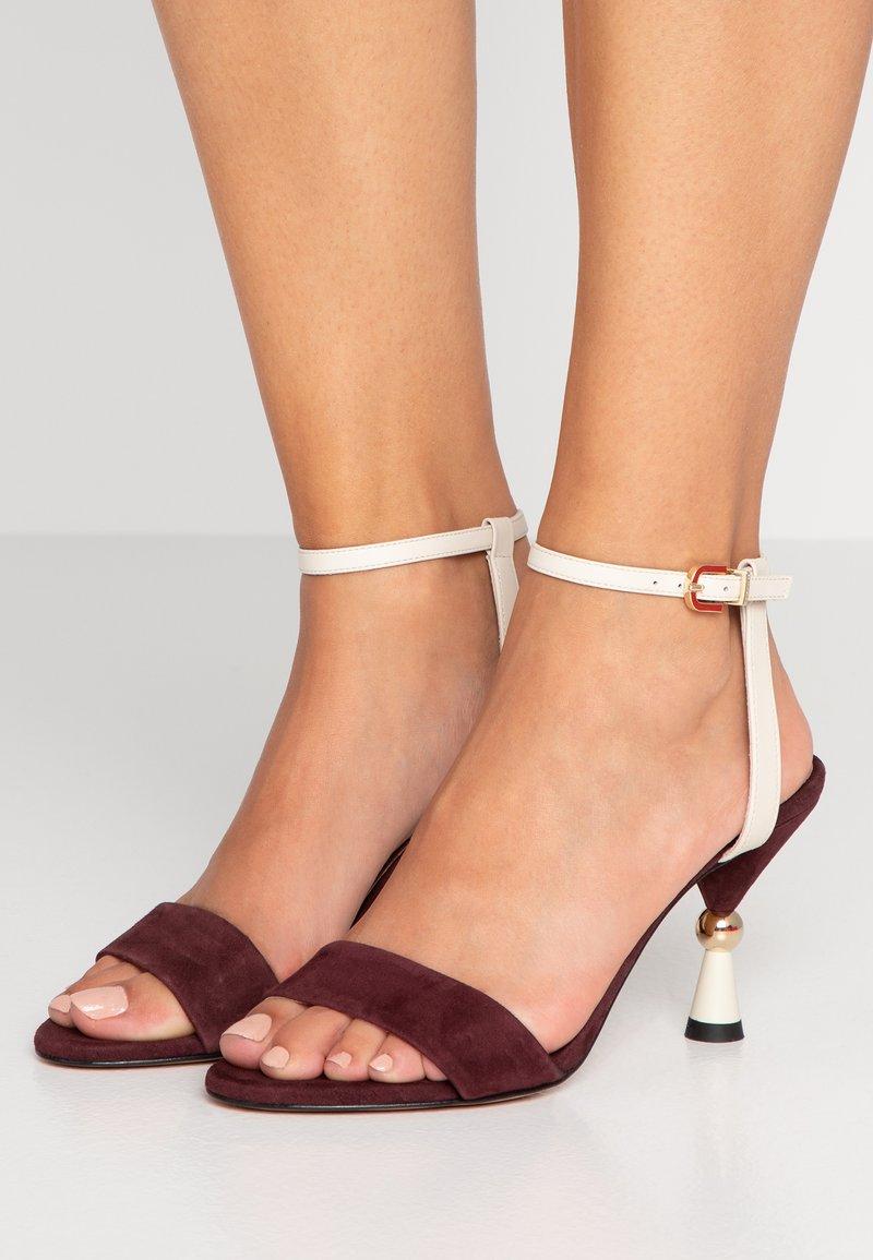 MAX&Co. - ACULEI - Korolliset sandaalit - burgundy