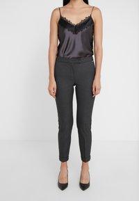 MAX&Co. - MONOPOLI - Trousers - dark grey - 0