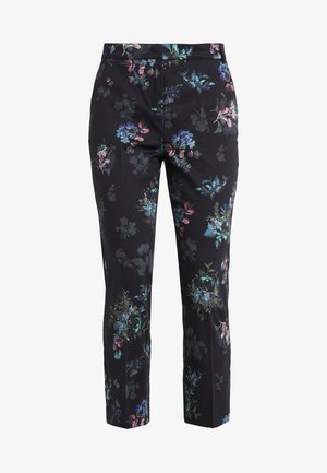 PAESE - Trousers - navy blue pattern