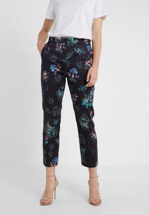 PAESE - Pantalon classique - navy blue pattern