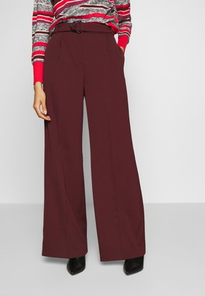 CANCELLO - Spodnie materiałowe - burgundy
