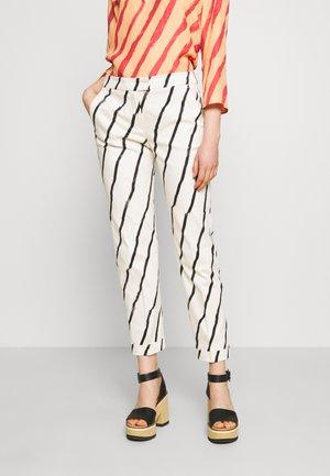 CEMENTO - Pantaloni - ivory pattern