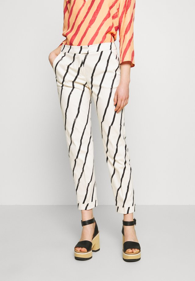 CEMENTO - Kalhoty - ivory pattern