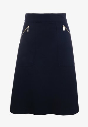 DEFILARE - A-line skirt - midnight blue