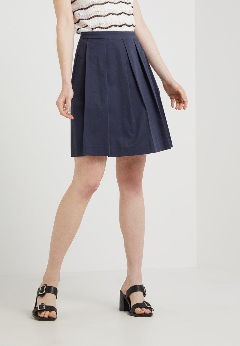 MAX&Co. - DARINA - A-line skirt - navy blue