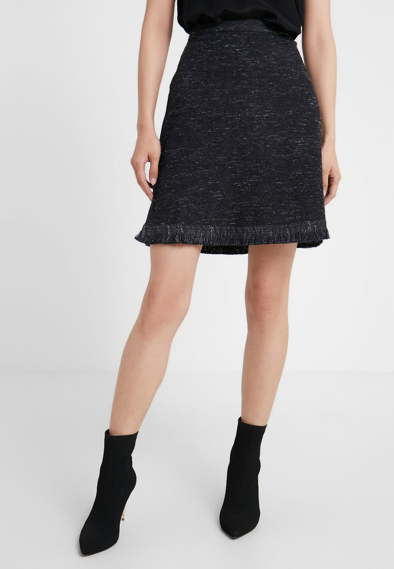 MAX&Co. - DONNA - A-Linien-Rock - black pattern