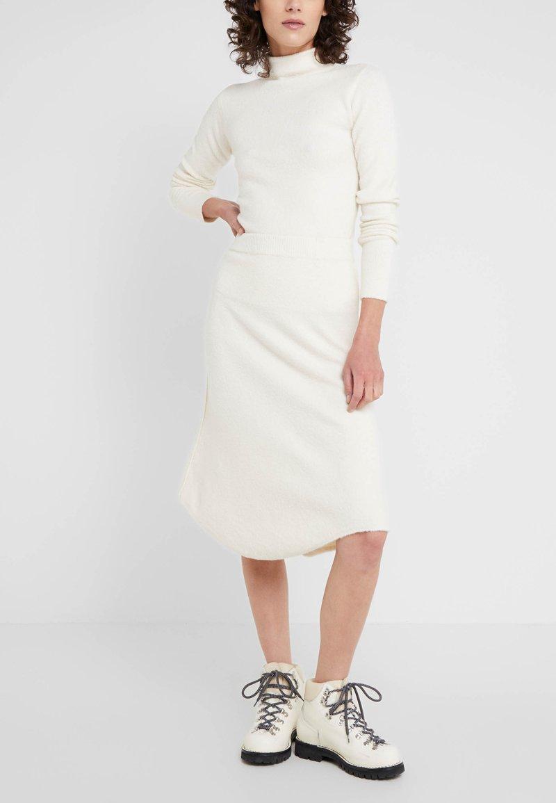 MAX&Co. - COROLLA - A-line skirt - white