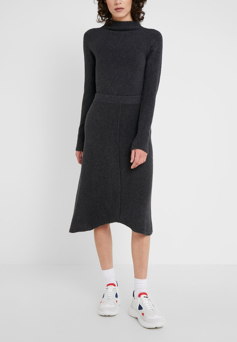 MAX&Co. - COROLLA - A-line skirt - dark grey